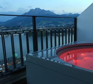 Ausblick Art Deco Hotel Montana Luzern