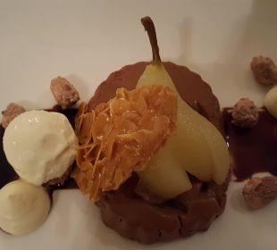 Dessert im Jugendstilrestaurant Hotel Saratz