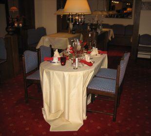 Mooi versierde en uitnodigende tafels Moselromantik Hotel Thul