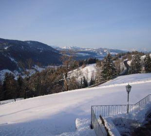 Aussicht vom Balkon Berghof am Paradies