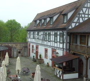Blick aus dem Fenster Hotel Meisnerhof