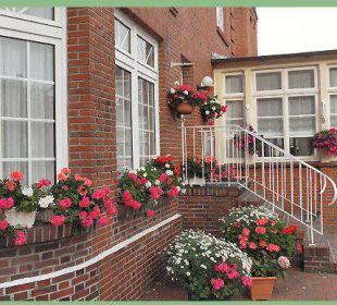 Das Steckenpferd des Hausherrn: die Blumenpflege Hotel-Pension Haus Angelika