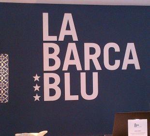 Die Farbe 'BLAU' ist Konzept La Barca Blu  Hotel