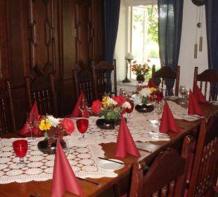 Gedeckter Tisch im Restaurant Landgasthof Hengstforder Mühle