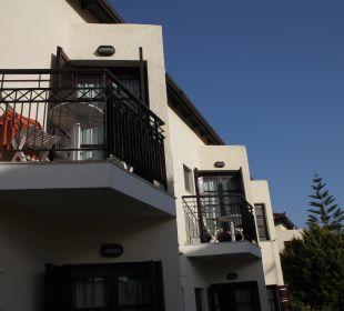 Balkone oben Hotel Kalidon