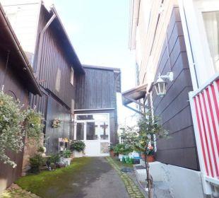 Gang zur Hoftür Bergidylle Harz - Suites