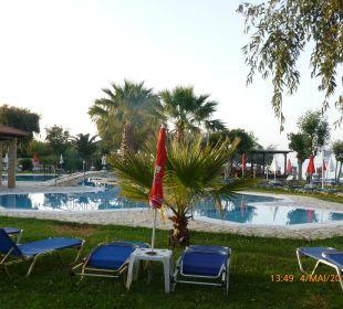 Der Pool am Abend Hotel Robolla Beach