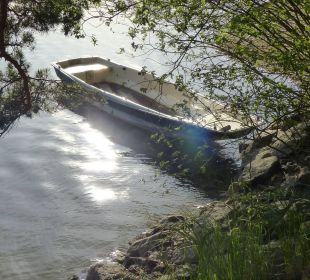 Idyllische Sonnenuntergangsstimmung am Assangteich Hotel Sole-Felsen-Bad