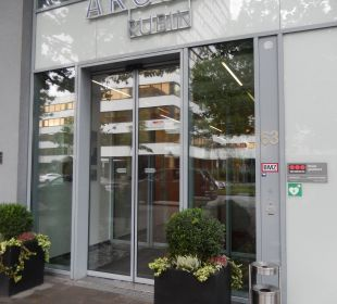 Eingang zum Hotel ARCOTEL Rubin