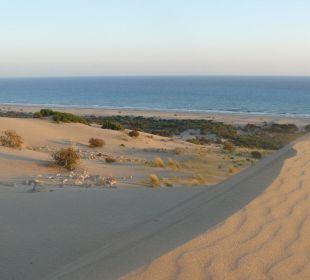 Sonnenuntergang auf großer Düne Hotel Orkinos