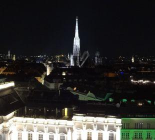 Ausblick von der Terrasse 13.Stock Hotel Am Parkring