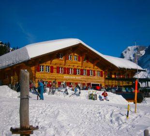 Blick von unten Hotel Berghaus Bort