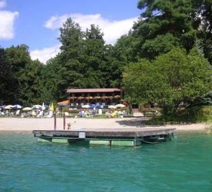 Schöne Strandanlage Inselhotel Faakersee
