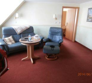 Wohnzimmer - sehr gemütlich Hotel Nussbaumhof