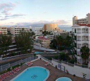 Ausblick vom Balkon Hotel Dorotea