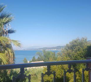 Aussicht vom Balkon Hotel Robolla Beach