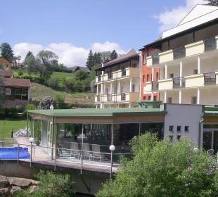 Blick vom Gartenbereich aus Wohlfühlhotel Liebnitzmühle