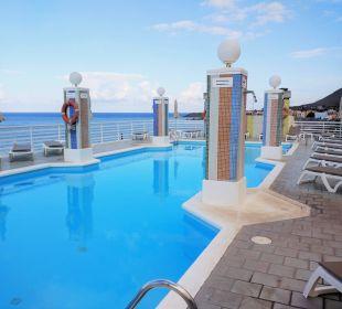 Pool mit Meerblick Hotel Gran Rey