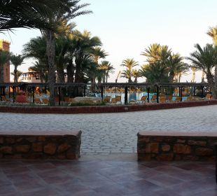 Terrasse proche piscine Hotel Safira Palms