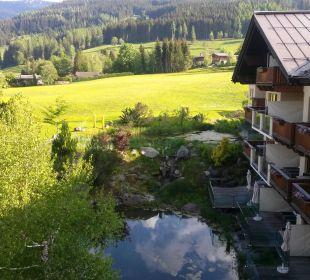 Ausblick aus unserem Zimmer Hotel Krallerhof