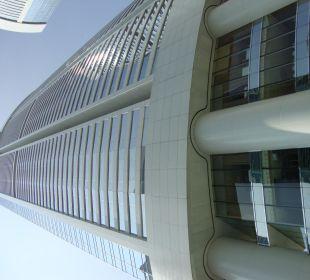 Conrad HK depuis la piscine Hotel Conrad Hong Kong