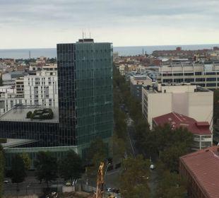 Ausblick Wohnzimmer Hotel Novotel Barcelona City