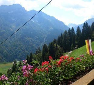 Aussicht vom Balkon Alpenhof Strenge Pension Alpenhof Strenge