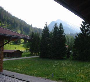 Rückansicht vom Balkon Landhaus Sammer Hotel Garni
