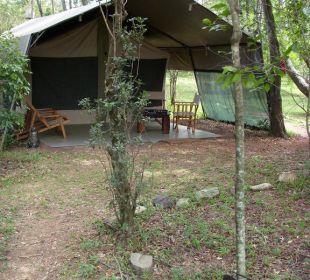 Eines der 10 Zelte Mara Bush Camp