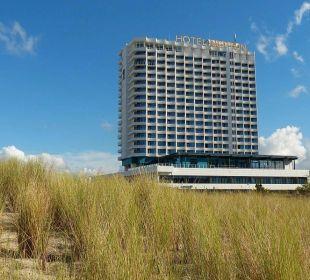 Blick vom Strand Hotel Neptun