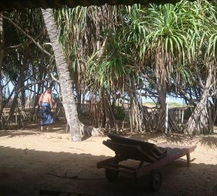 Der Blick von unserem Bungalow auf das Meer Hotel Ranweli Holiday Village