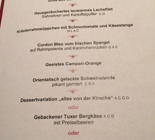 """""""Kleine"""" Auswahl.  Hotel Klausnerhof"""
