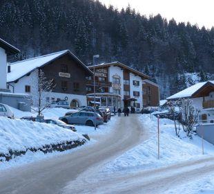Straße zum Hotel Hotel Silbertal