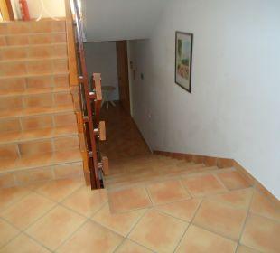 Treppenhaus zum Zimmer, leider kein Aufzug Villa Pavlinka
