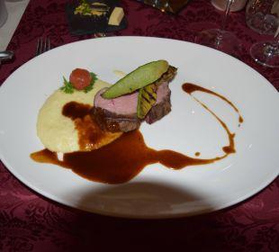 Hauptspeise beim 4 Gänge Menü Hotel The Lakeside