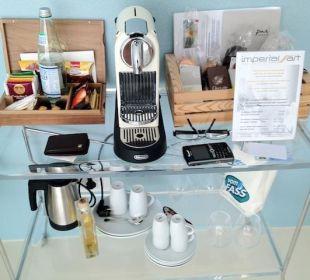 Kaffee- und Teebar im Zimmer Boutique & Design Hotel ImperialArt