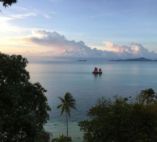 Blick aufs Meer von der Villa Belmond Napasai
