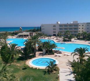 Blick vom Zimmer Hotel Vincci Marillia