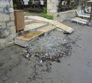 Zugang zum Strand Hotel Robolla Beach