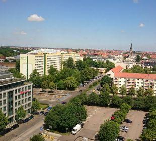 Ausblick vom Flur Richtung Zoo Hotel The Westin Leipzig