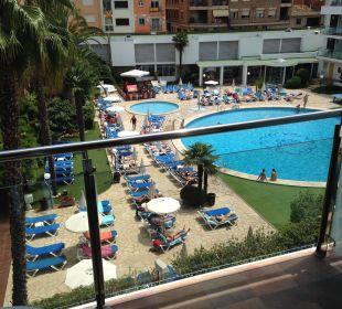 Ausblick vom Balkon Hotel Anabel
