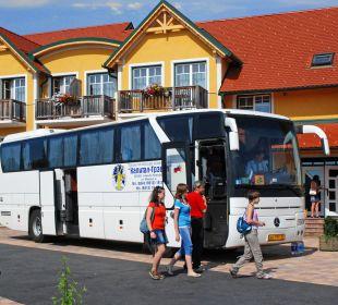 """Auch Busse sind """"Willkommen"""" Gasthaus Kramerwirt"""