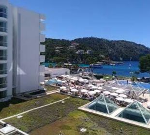 Blick von unserem Balkon Olimarotel Gran Camp de Mar