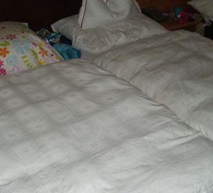 Die Betten vom Komfortzimmer Nr. 202 Hotel Trattlerhof