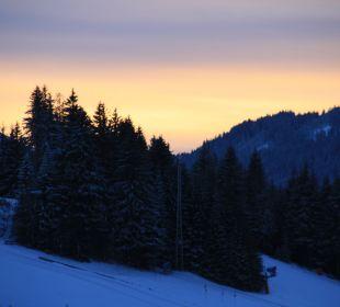 Sonnenuntergang Landhaus Wildschütz