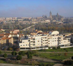 Blick von der Terrasse des Paradors Hotel Parador de Salamanca
