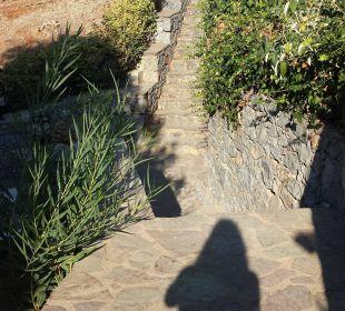 Treppen vom Strand zum Hotel Hotel King Minos Palace