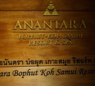 Aussen am Eingang Anantara Bophut Koh Samui Resort