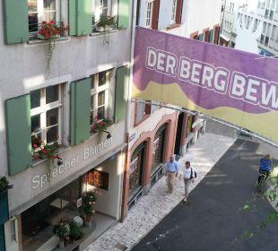Blick aus dem Zimmer auf Spalenberg-Gasse Hotel Basel
