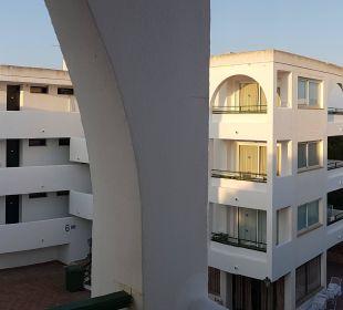Aussicht aus dem Appartement Hotel Ola Club Cecilia